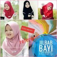jilbab Bayi Simple sederhana renda bawah