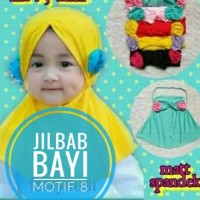 jilbab Bayi Simple sederhana bunga samping
