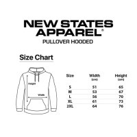 Pullover Hooded New States Apparel⠀
