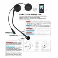 Headset Bluetooth Helm L1M / M5 Wireless Headset KUALITAS MANTAP !!!