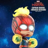 Hot Toys Cosbaby Captain Marvel Light Up Version Red