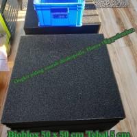 50 x 50 x 5 cm Bioblok biofil Biofoam media filter kolam / aquarium