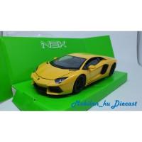 Diecast Lamborghini Aventador LP700-4 Welly Nex 1:24 Kuning