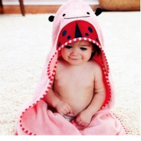 Original Skip Hop Hooded Ladybug Towel Handuk Skip Hop