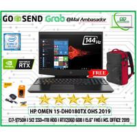 HP Omen 15-dh0180TX RTX2060 6GB i7-9750H 16GB 1TB+512ssd 15.6FHD 144Hz
