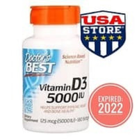 DOCTOR Vitamin D3 5000 IU 180 Softgels Doctor's Best D-3 5000UI