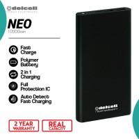 New Delcell NEO Powerbank 10000mAh Real Capacity Polymer Battre -