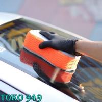 2 in 1 Premium Sponge Microfiber Busa Cuci Mobil | Car Spons Spon GC
