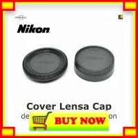 JD174 Cover Lensa Cap depan belakang Logo Nikon