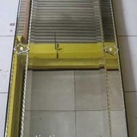 Cermin hiasan ukir ruang tamu minimalis SJMG004086 size 120 cm x 60 cm