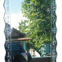 Cermin hiasan ukir ruang tamu minimalis SJMG004050 size 200cm x 60cm