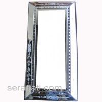 Cermin hiasan ukir ruang tamu minimalis SJMG004020 uk 100 cm x 50 cm