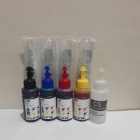 PAKET TINTA REFILL HP 2135 4 WARNA + CLEANER SOLUTION