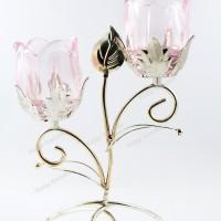 Tempat Lilin Dekor 2 lilin - Candle Holder Rose 2 Salem 2 candles