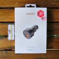 Aukey CC T8 Car Charger Dual Output QC3.0 36Watt Cas mobil Garans