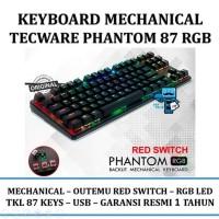 TERMURAH Tecware Phantom 87 Key RGB Led Outemu RED Switch Mechani