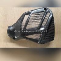Tutup Cover Radiator N-max New Model Terbaru Yamaha NMax Carbon Kevl