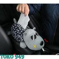 Tempat Kotak Tisu Mobil / Boneka Gantungan Jok Gentleman Car Tissue GC