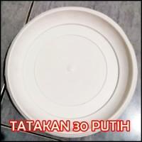 Alas Tatakan Pot 30 Plastik Putih 30cm Utk Alas Pot Tawon 30 32