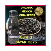 SUPER HEMAT Organic Mexico Black Chia Seeds