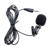 Clip On Mic 3.5mm Microphone Clip Hp Smartphone Laptop Tablet Mikrofon