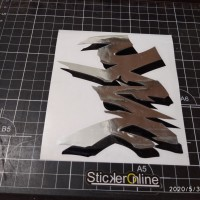 sticker cutting motor yamaha sticker logo yzf uk11x13cm