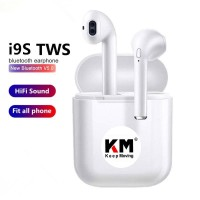 Handsfree Bluetooth Double I9s TWS Earphone Bluetooth Headset Mini IOS