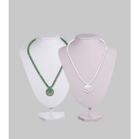 Alsyva White/Green Jade - Gelang Kalung Kesehatan - Bersertifikat