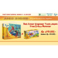Paket Hemat Gigo Jr Engineer Tools Free Jr Engineer Crazy Monsters