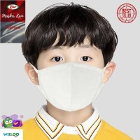 Masker Kain Anak Rider Anti Bakteri 2 ply (Earloop Putih)