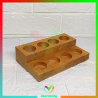 Rak Essential Oil - rak kayu 8 slot