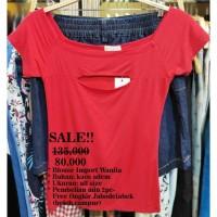 Blouse Wanita Import Sub- ae- blouse merah- all size