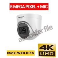 CCTV HIKVISION INDOOR 5MP + MIC DS2CE76HOT-ITPFS RESMI