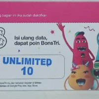 vcr tri unlimited + 10gb (voucher kuota three) bukan Telkomsel/XL/Axis