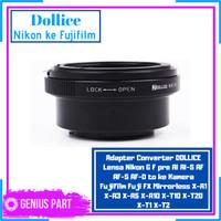 DOLLICE Adapter Lensa Nikon ke Fujifilm Mirrorless X-A1 X-A3 X-A5 etc