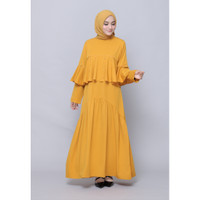 Hijab Ellysha PEARLY RUFFLE EXCLUSIVE DRESS