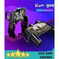 GAMEPAD K21 PUBG MOBILE CONTROLLER L1R1 TRIGGER GUN GOD - PUBG ROS FF
