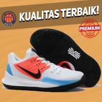 Sepatu Basket Sneakers Nike Kyrie 2 Low White Blue Red Pria Wanita