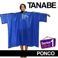 Jas Hujan Poncho Poncho Lengan Jubah Panjang PVC Anti Air Tanabe s1