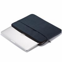 Tas Laptop Macbook Softcase Nylon Zipper 11 12 inch - Black