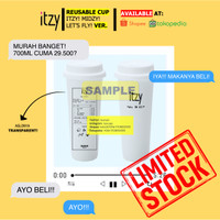 [REUSABLE CUP] ITZY! MIDZY! LET'S FLY! POLYPROPYLENE BISA DICUCI