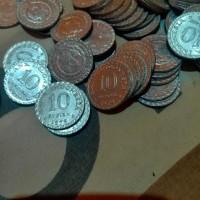 Uang Kuno 10 Rupiah Aluminium Kinclong