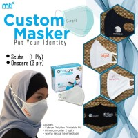 MASKER CUSTOM Logo by OneCare 3 Ply carbon filter