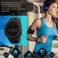Jam Tangan Pria Smartwatch SKMEI 1250 BLACK Water Resistant 50m