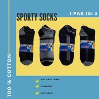 Kaos Kaki Sports Mata Kaki 1 Pak 3 pcs - Mix, Free Size 37-41