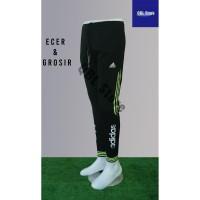 Celana Training Import Joger Sweatpants 7/8 Adidas Hitam Stabilo