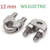 Klem kawat kabel seling m12 wireclip / wire clip sling 12 mm / 12mm
