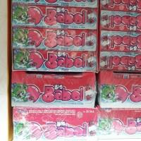 Big Babol Stick Strawberry & Cream Permen Karet [20 pcs/ Box]