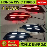 LAMPU LED BUMPER HONDA CIVIC TURBO PORSCHE STYLE