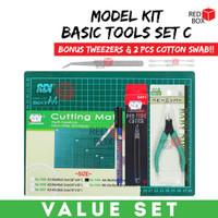 Basic Tools Set C Bandai Gundam Nipper Marker Pen Cutter Cutting Mat